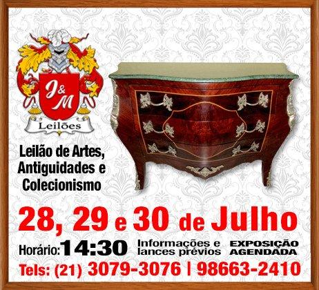 J&M LEILÃO DE ARTES E ANTIGUIDADES E COLECIONISMO.