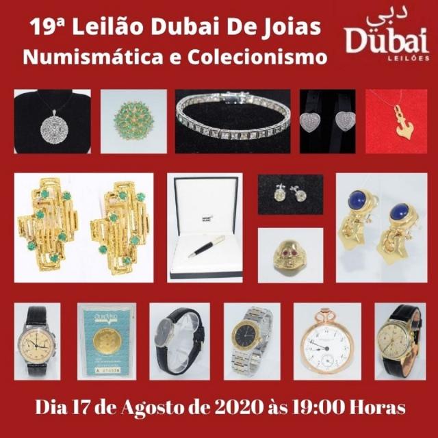 19º LEILÃO DUBAI DE JOIAS, NUMISMÁTICA E COLECIONISMO.
