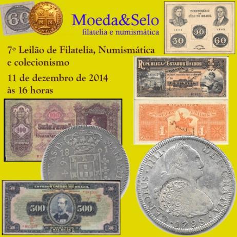 7º Leilão Moeda&Selo de filatelia, numismática e colecionismo