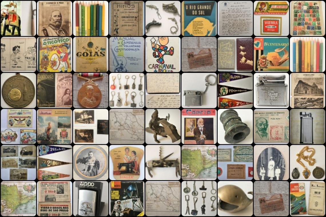 LEILÃO DE COLECIONISMO - Documentos, Mapas, Facas, Chaveiros, Postais, Fotos e Outros.