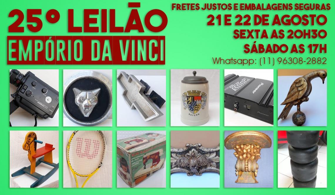 25º Leilão do Empório da Vinci - Emblemas e radios para carros antigos, Cacarecos,  e Oportunidades.