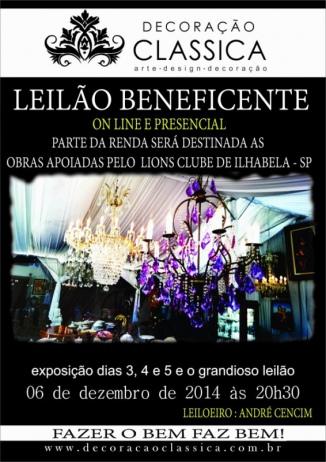LEILÃO BEBEFICENTE - DECORAÇÃO CLÁSSICA