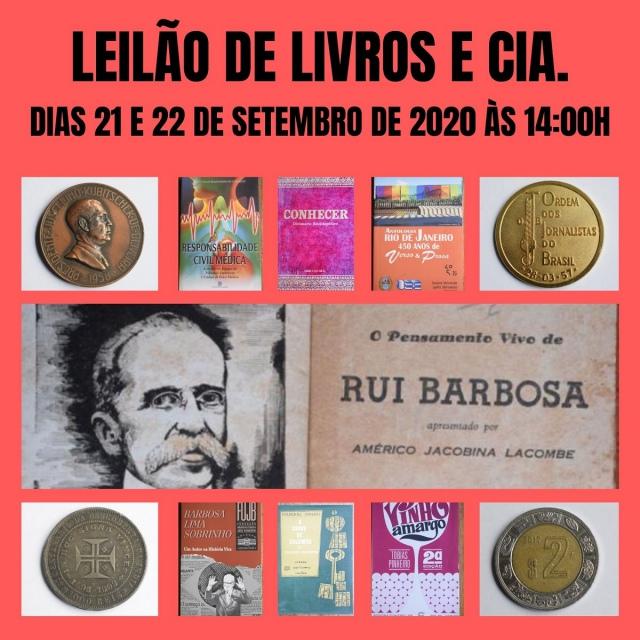 LEILÃO DE LIVROS E CIA.