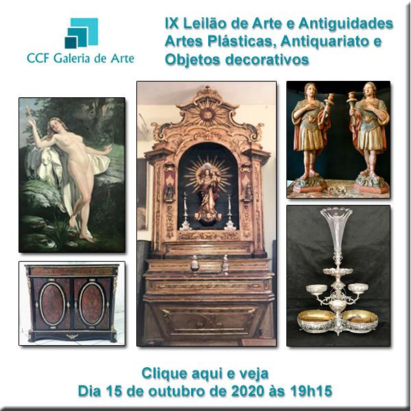 VIII Leilão CCF Esc. de Arte - antiguidades, obras de arte e obj. decorativos 29 e 30/07/2020 19h45
