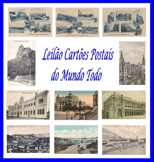 LEILÃO CARTÕES POSTAIS DO MUNDO TODO