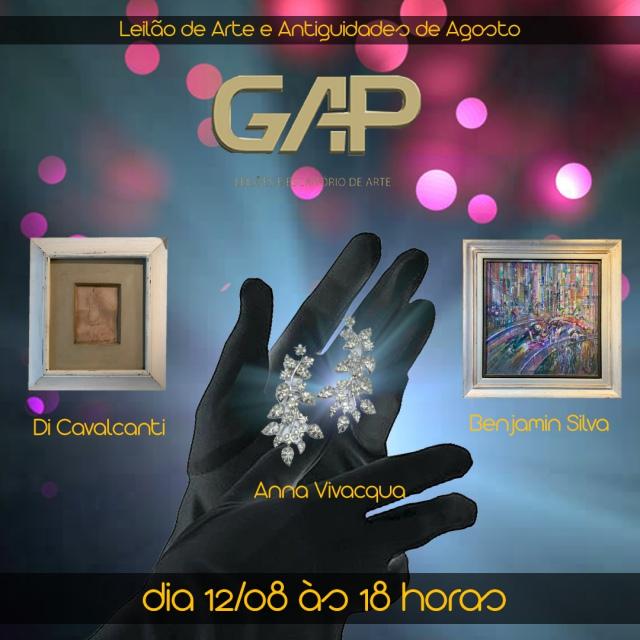 LEILÃO GAP DE ARTE E ANTIGUIDADES DO MÊS DE AGOSTO