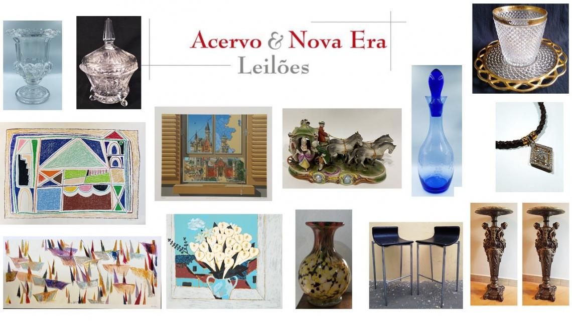 LEILÃO DE ARTE, ANTIGUIDADES E OPORTUNIDADES - ACERVO E NOVA ERA LEILÕES - 10 e 11/08/2020 - 15h00