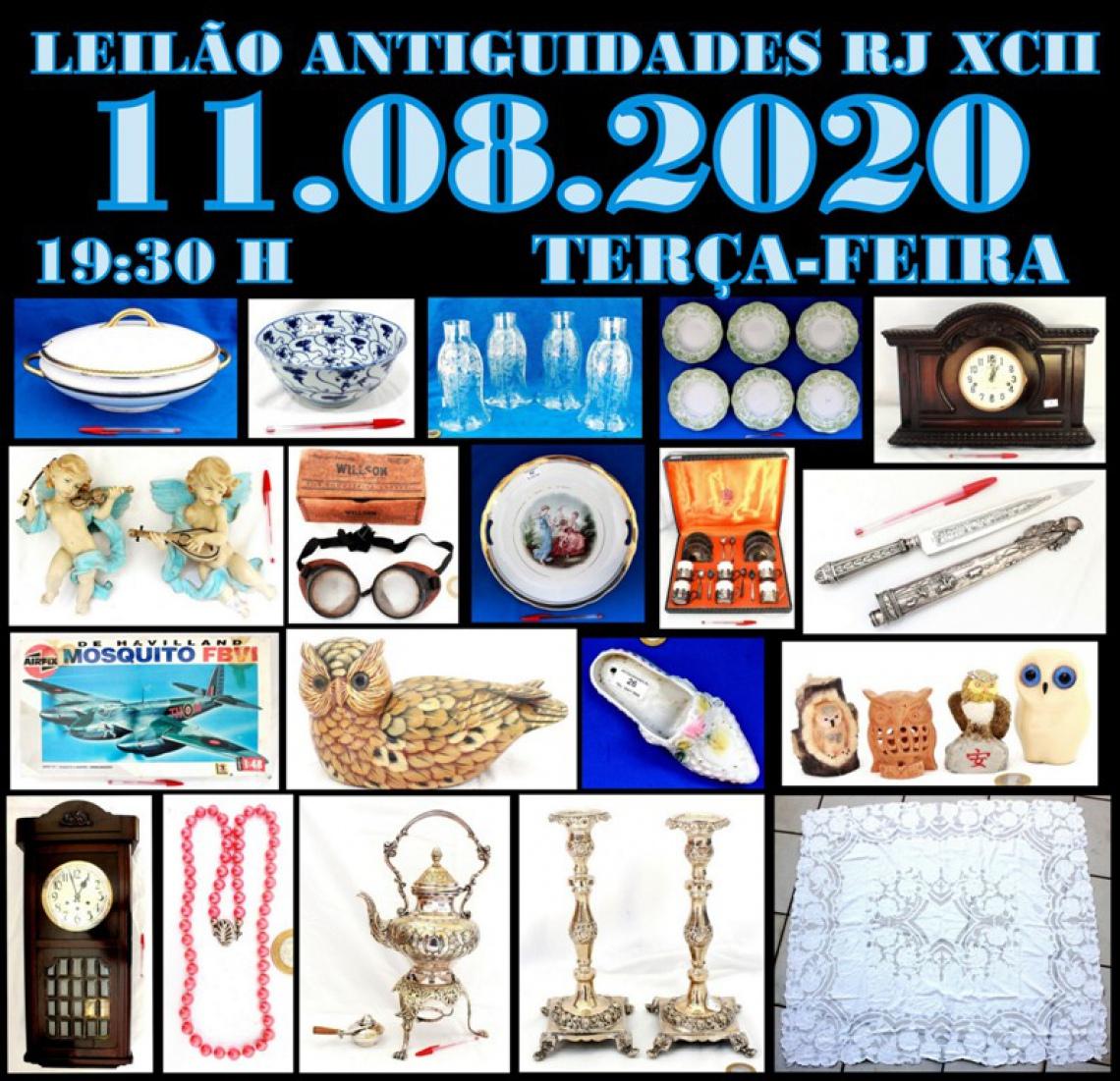 LEILÃO ANTIGUIDADES RJ XCII