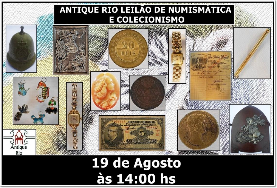 ANTIQUE RIO LEILÃO DE NUMISMÁTICA E COLECIONISMO