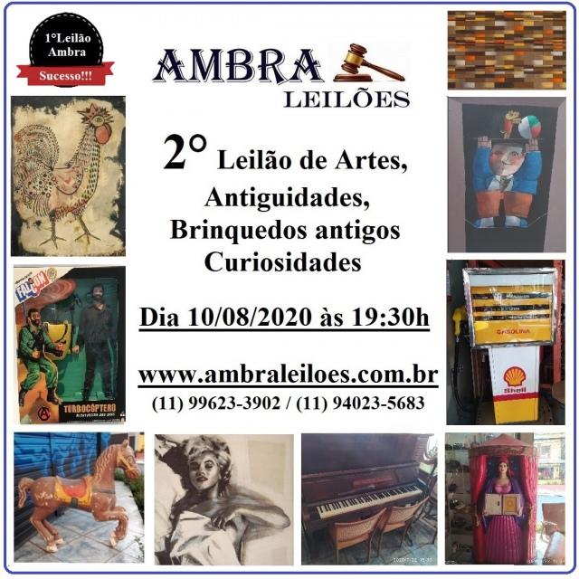 LEILÃO DE ARTE, ANTIGUIDADES, BRINQUEDOS ANTIGOS E CURIOSIDADES.
