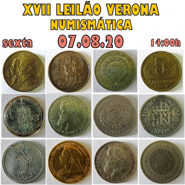 XVII LEILÃO VERONA ( NUMISMÁTICA )