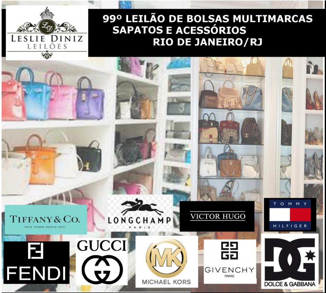 99º LEILÃO DE SAPATOS, BOLSAS E ACESSÓRIOS MULTIMARCAS - RIO DE JANEIRO/RJ