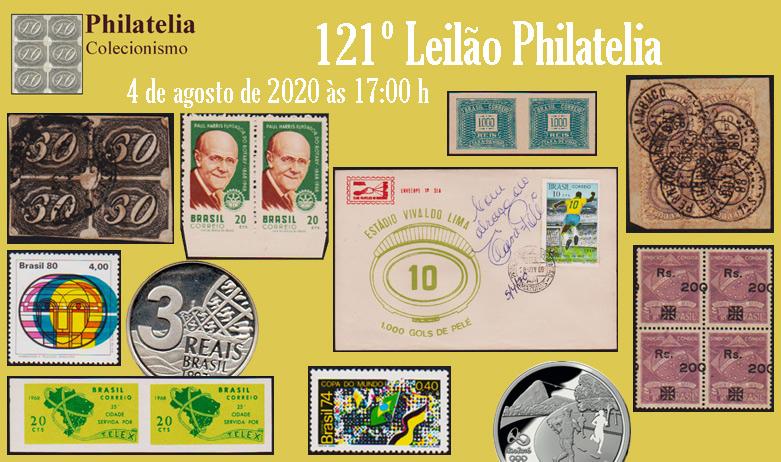 121º Leilão de Filatelia e Numismática - Philatelia Selos e Moedas