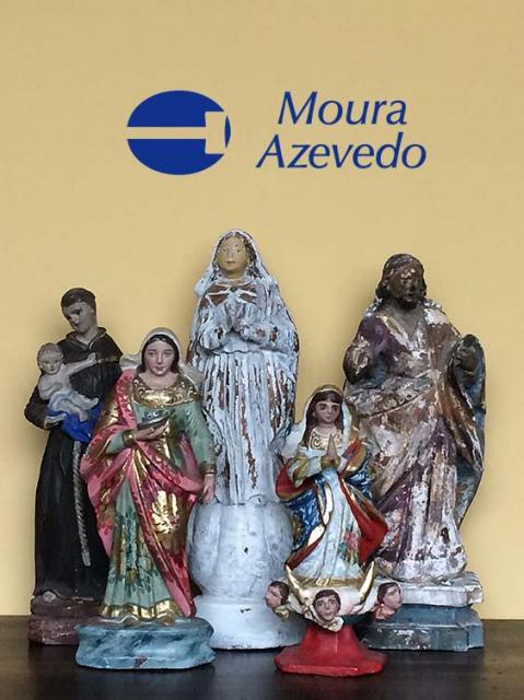 Leilão de Arte Sacra, Popular, Quadros, Móveis e Antiguidades