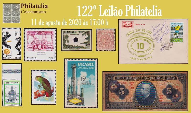 122º Leilão de Filatelia e Numismática - Philatelia Selos e Moedas