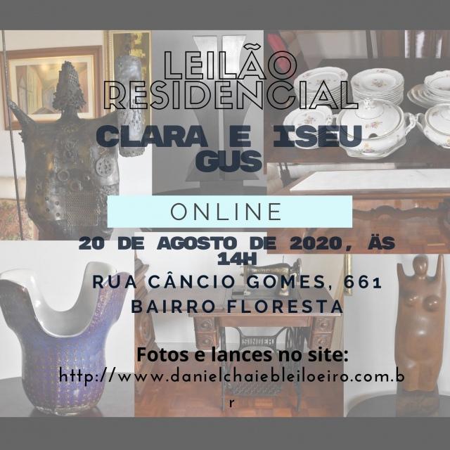 LEILÃO RESIDENCIAL - Clara e Iseu Gus