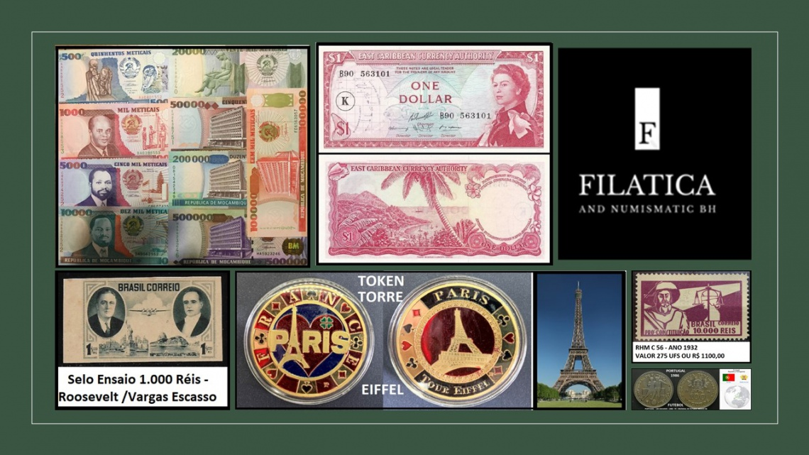 74º LEILÃO FILATIC AND NUMISMATIC BH