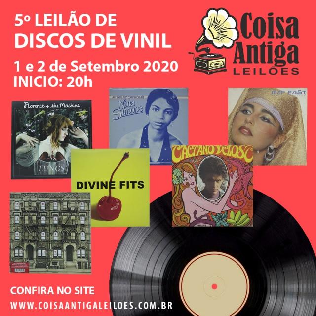 5º LEILÃO DE DISCOS DE VINIL - COISA ANTIGA