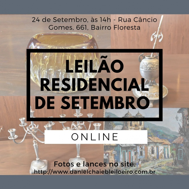 LEILÃO RESIDENCIAL DE SETEMBRO