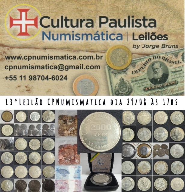 13º LEILÃO CULTURA PAULISTA NUMISMÁTICA