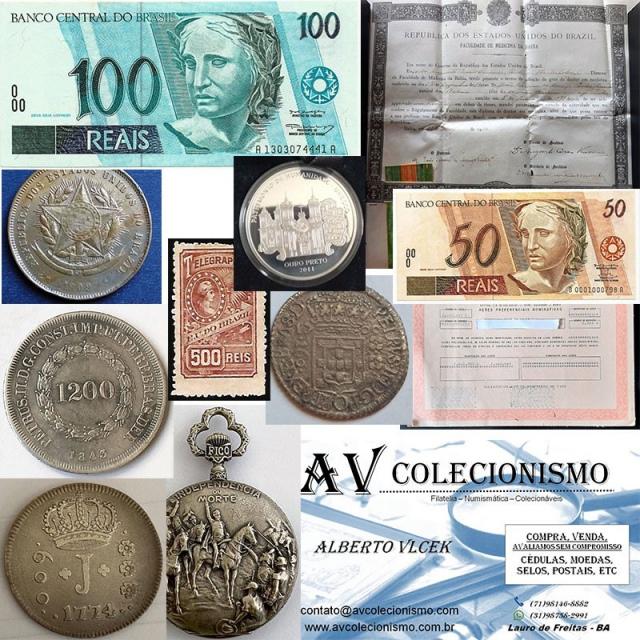 31º Leilão - AVCO - Filatelia  - Numismática - Colecionáveis