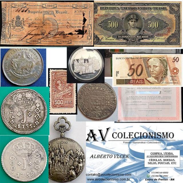 32º Leilão - AVCO - Filatelia  - Numismática - Colecionáveis