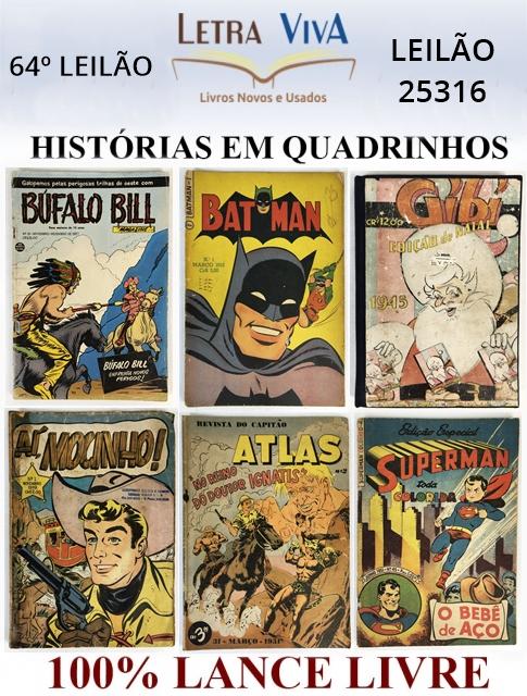 49º LEILÃO LETRA VIVA - HISTÓRIAS EM QUADRINHOS - 100% LANCE LIVRE