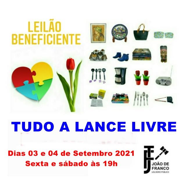 LEILÃO BENEFICENTE - TUDO A LANCE LIVRE