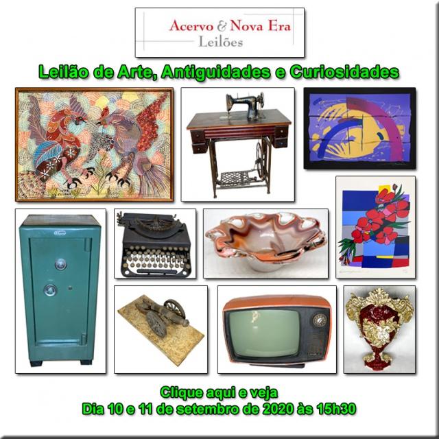 LEILÃO DE OPORTUNIDADES - ACERVO E NOVA ERA LEILÕES - 10 e 11/09/2020