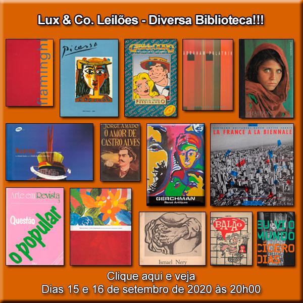 Lux & Co. Leilões - Diversa Biblioteca!!! - 15 e 16/09/2020 - 20h00