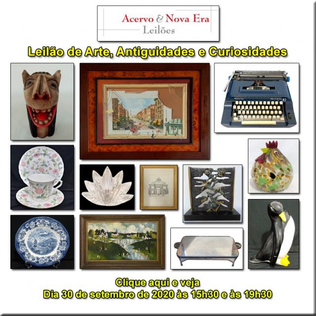 LEILÃO DE OPORTUNIDADES - ACERVO E NOVA ERA LEILÕES - 30/09/2020