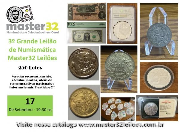3º Grande Leilão de Numismática - Master32 Leilões