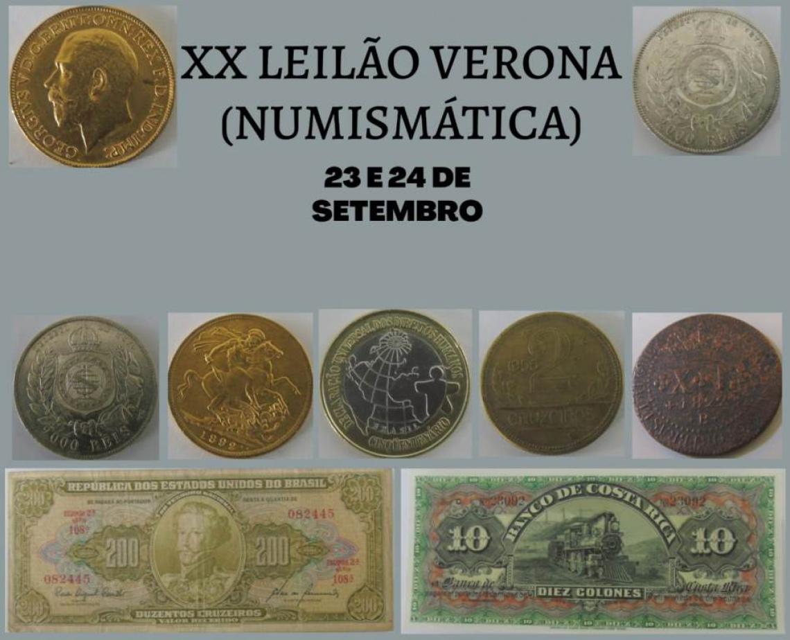 XX  LEILÃO VERONA - NUMISMÁTICA