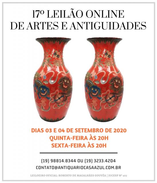 17º LEILÃO DE ARTES E ANTIGUIDADES - 3 e 4/09/200 às 20h00