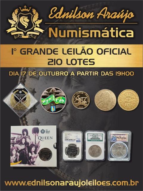 1º LEILÃO EDNILSON ARAUJO NUMISMÁTICA