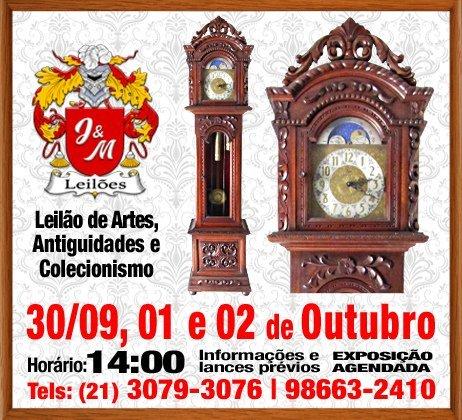 J&M LEILÃO DE ARTES E ANTIGUIDADES E COLECIONISMO. SETEMBRO E OUTUBRO DE 2020.