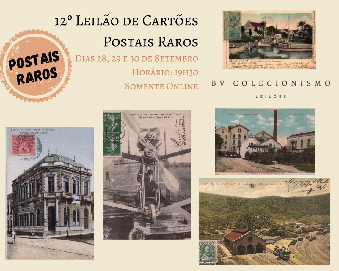 12º LEILÃO DE CARTÕES POSTAIS RAROS