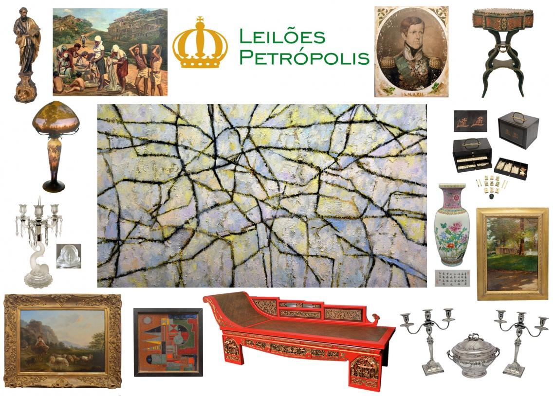 LEILÃO PETRÓPOLIS - DE ARTE E ANTIGUIDADES - TEL. HORÁRIO DO PREGÃO 21/996218077