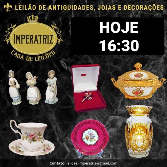 LEILÃO DE ARTE , JOIAS E DECORAÇÕES - CASA DE LEILÕES IMPERATRIZ