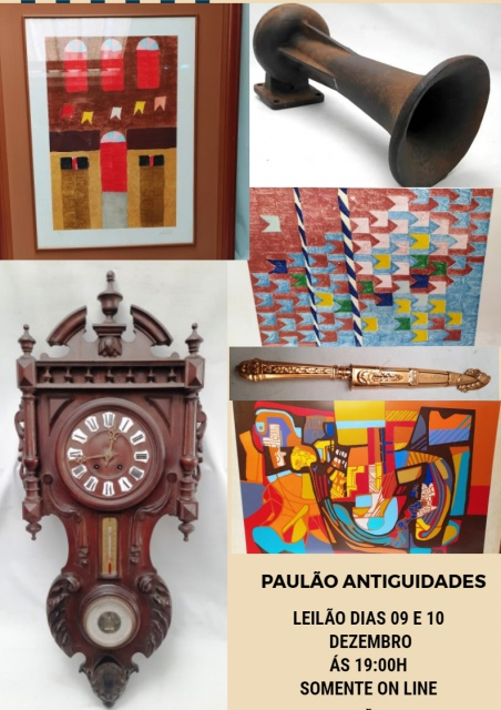 LEILÃO DE NATAL - PAULÃO ANTIGUIDADES - MIGUEL PEREIRA, RJ