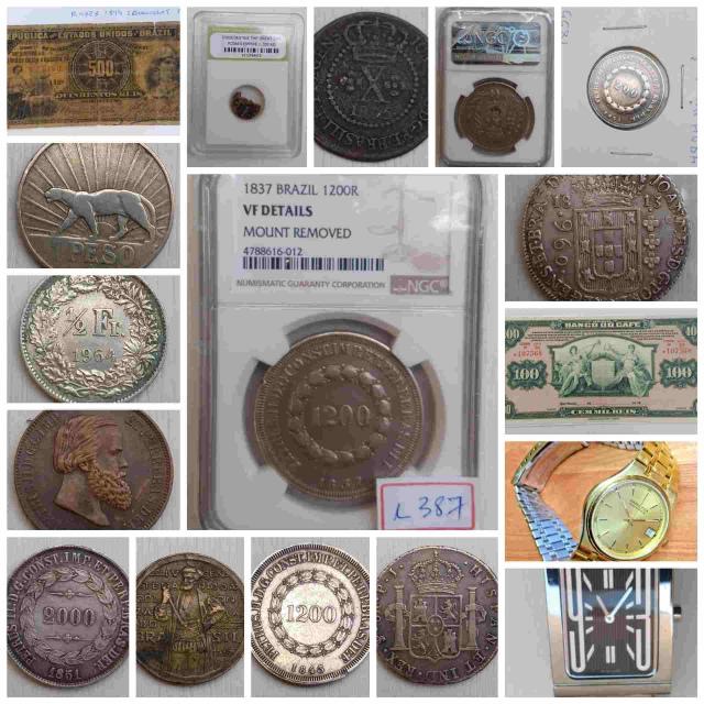 26º Leilão Numismart - Cédulas Moedas Nacionais e estrangeiras, relógios