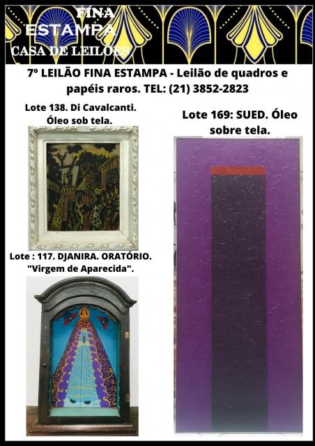 7º LEILÃO FINA ESTAMPA CASA DE LEILÕES - Leilão de quadros e papéis raros. TEL: (21) 3852-2823