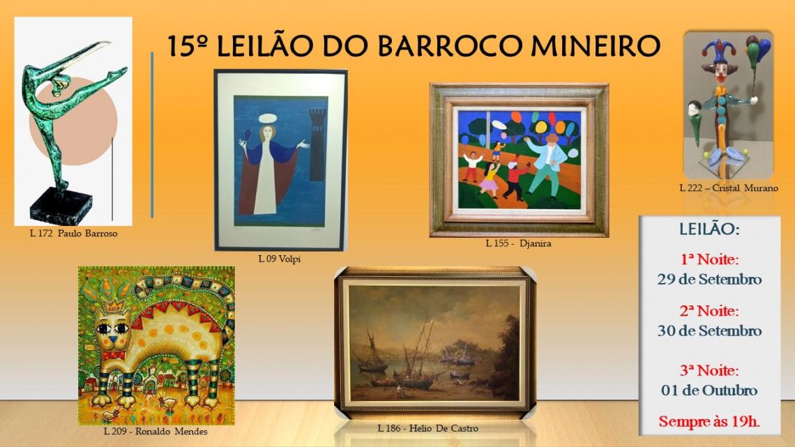 15º LEILÃO DO BARROCO MINEIRO.
