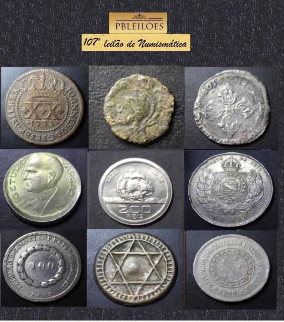 107º Leilão de Numismática Pbleiloes