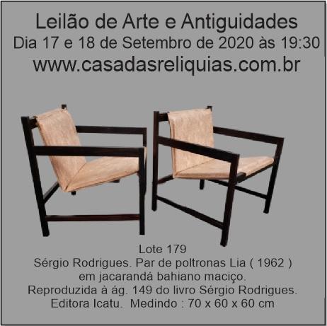 LEILÃO DE ARTE, ANTIGUIDADES E MOBILIÁRIO MODERNO BRASILEIRO