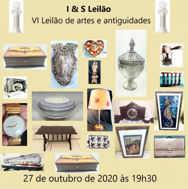 I & S VI LEILÃO DE ARTES E ANTIGUIDADES