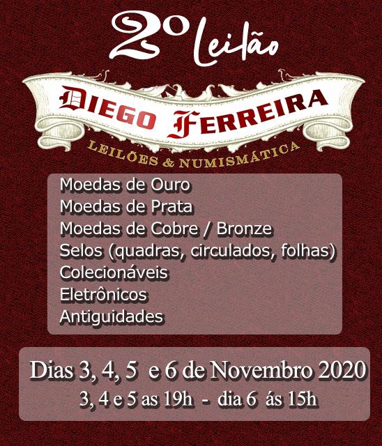 2º Leilão Diego Ferreira de Numismática, Filatelia , Colecionismo e Antiguidades