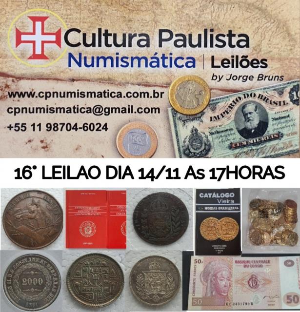 15º LEILÃO CULTURA PAULISTA NUMISMÁTICA