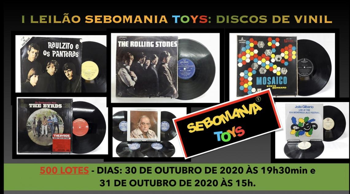 I LEILÃO SEBOMANIA TOYS: DISCOS DE VINIL.