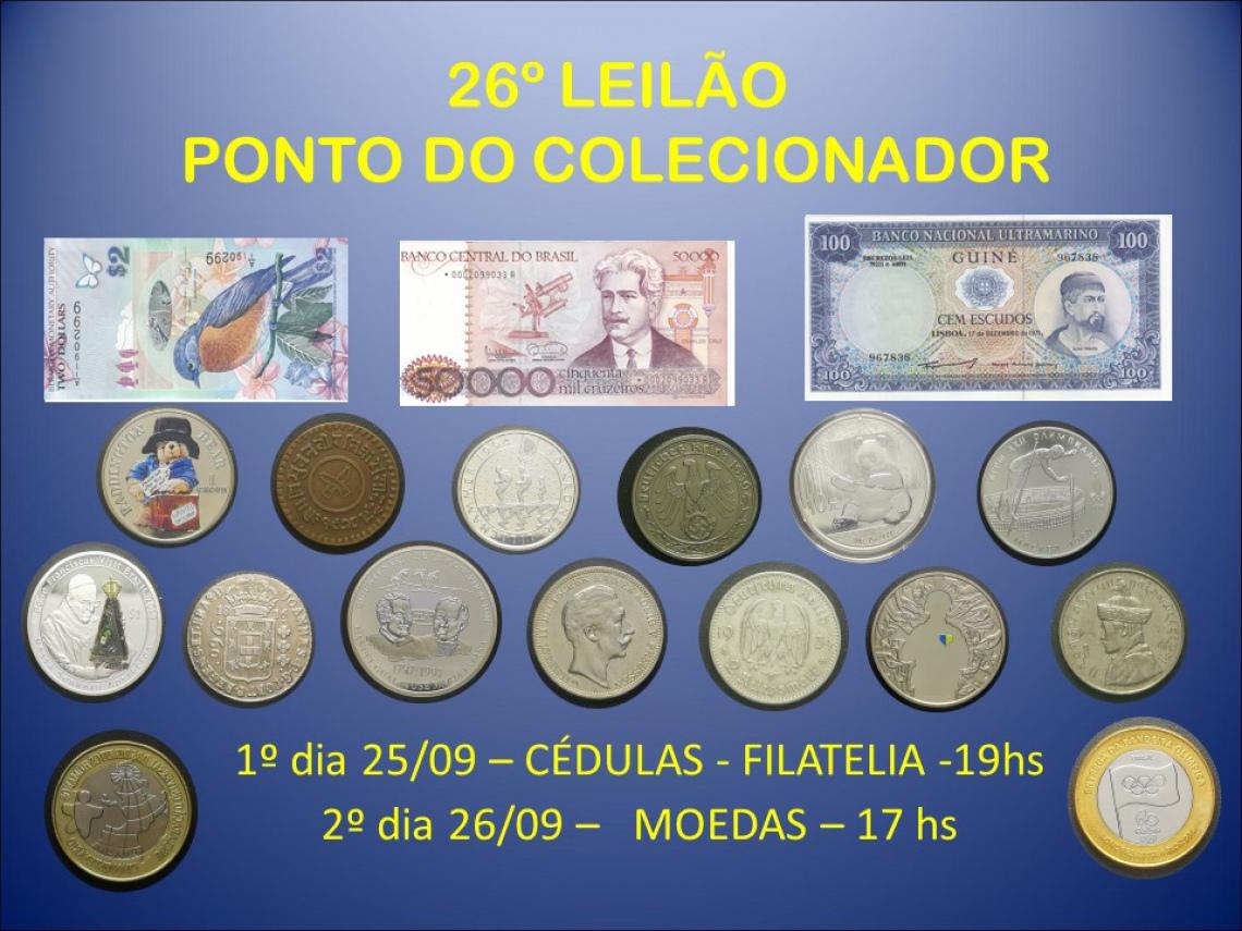 26º LEILÃO PONTO DO COLECIONADOR